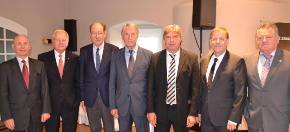 Das SFV-Präsidium 2014 - 2018 (mit Rudi Krämer 2. v.l. stellv. für Alfred Hirt)